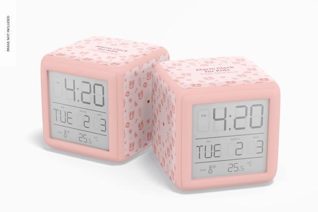 Maqueta de relojes despertadores para niños