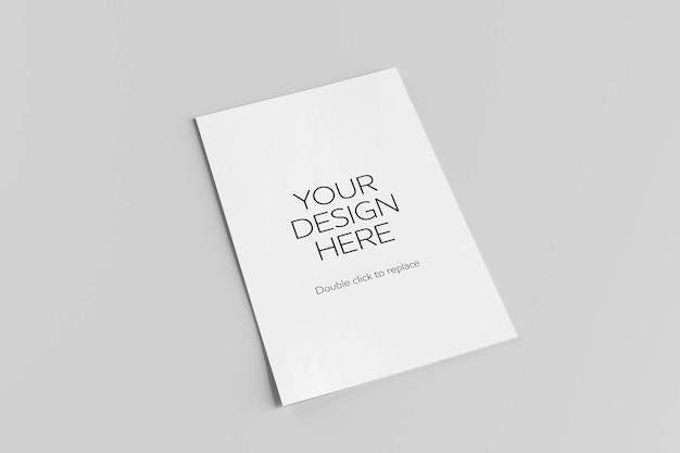 Maqueta de una representación 3d de tarjeta postal blanca