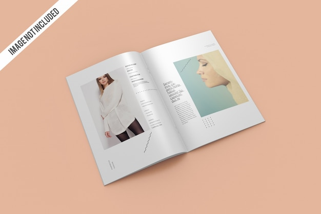 Maqueta de revista abierta