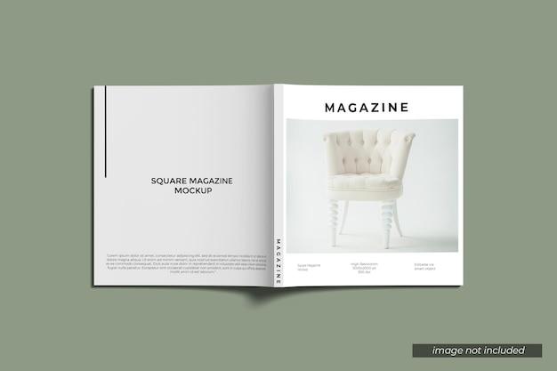 Maqueta de revista cuadrada de portada