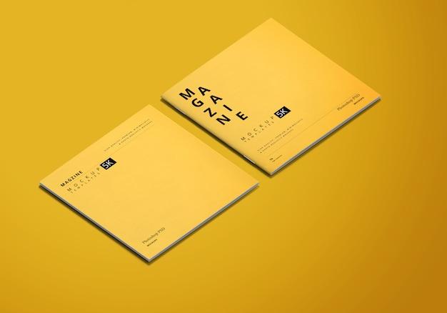 Maqueta de revista cuadrada
