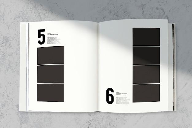 Maqueta de revista con un espacio en blanco