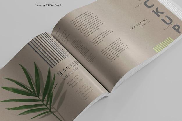Maqueta de revista de paisaje