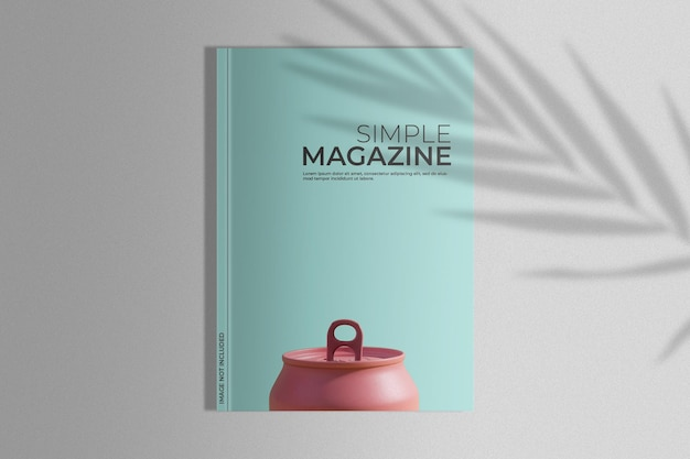 Maqueta de revista con sombra de palma