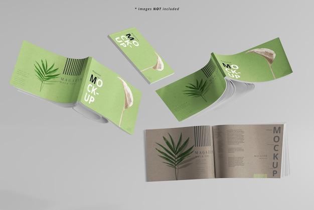 Maqueta de revistas de paisaje