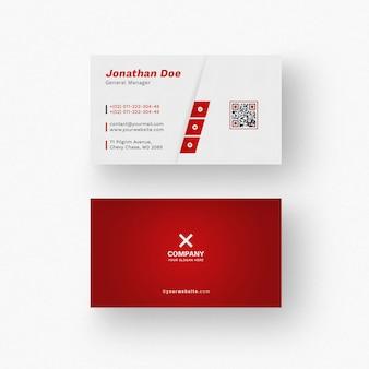 Maqueta roja de la tarjeta de visita
