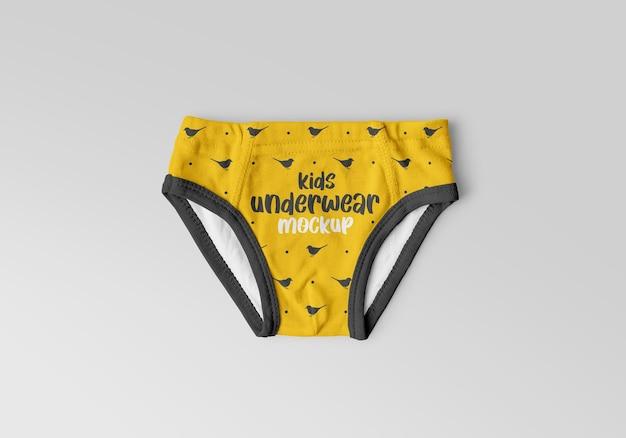Maqueta de ropa interior para niños