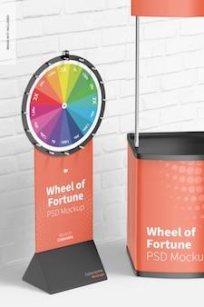 Maqueta de la rueda de la fortuna
