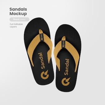 Maqueta de sandalias premium