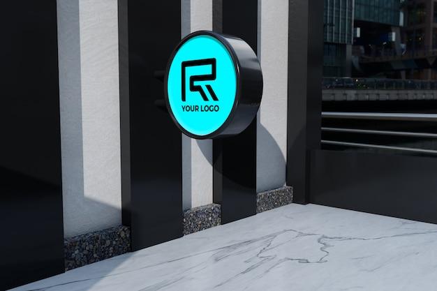 Maqueta de señalización de restaurante con logotipo