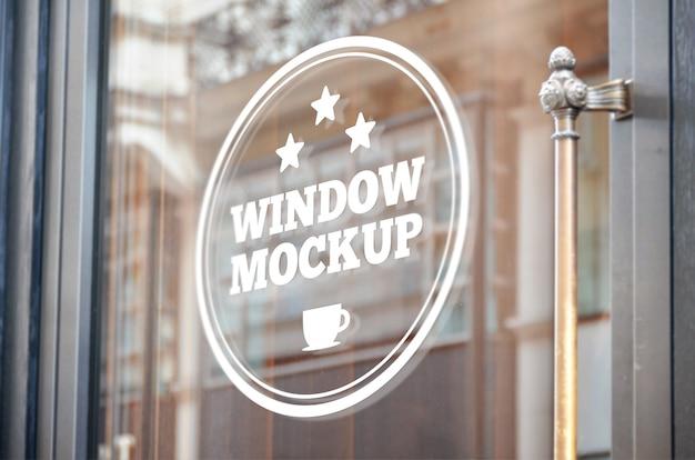 Maqueta de señalización de ventanas