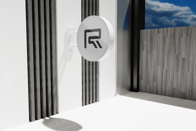 Maqueta de signo de oficina de logotipo