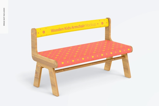 Maqueta de sillón de madera para niños