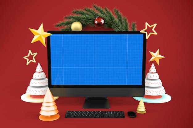 Maqueta de sitio web navideño