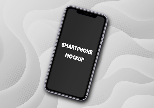 Maqueta de smartphone aislado