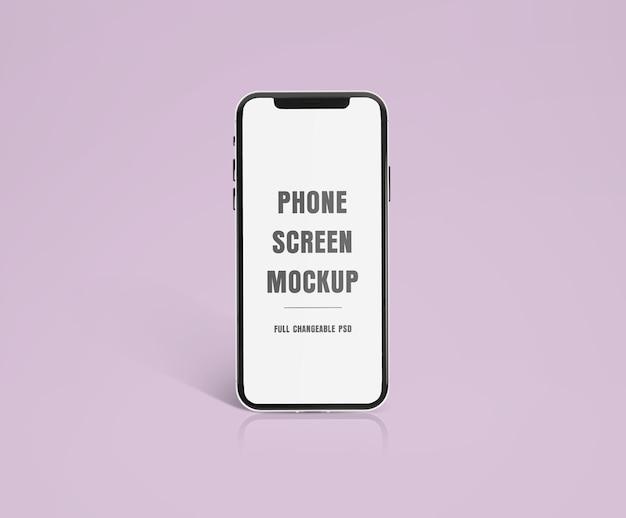 Maqueta de smartphone moderno realista de alta calidad aislada