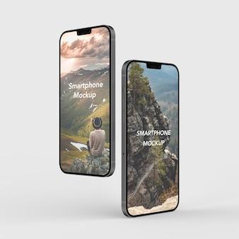Maqueta de smartphone moderno