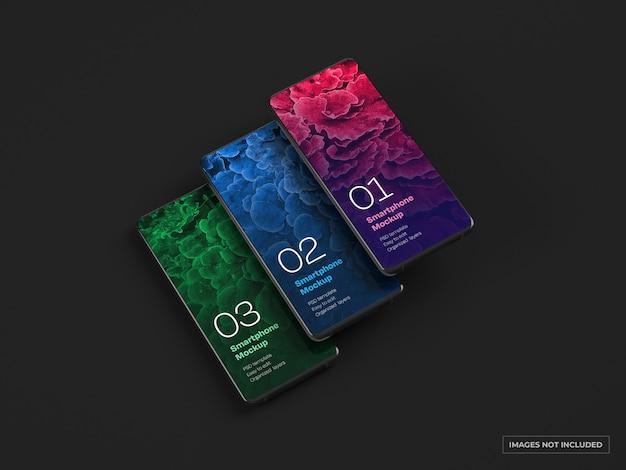 Maqueta de smartphone oscuro