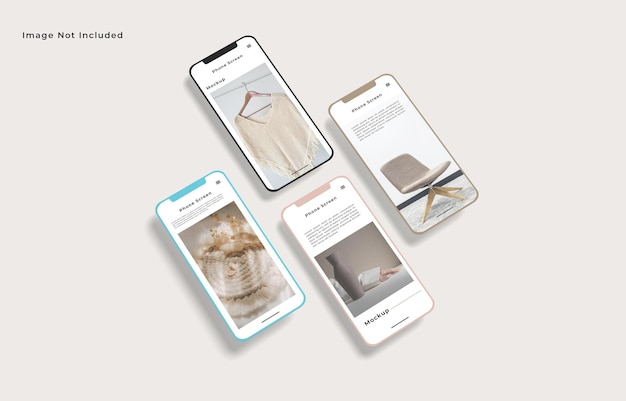 Maqueta de smartphone de pantalla aislada