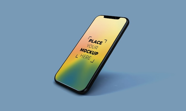 Maqueta de smartphone en pantalla completa