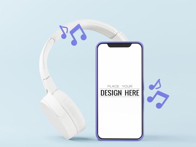 Maqueta de smartphone con pantalla vacía