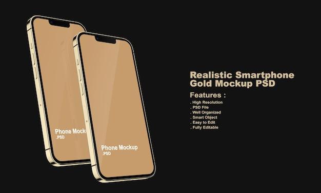 Maqueta de smartphone premium realista