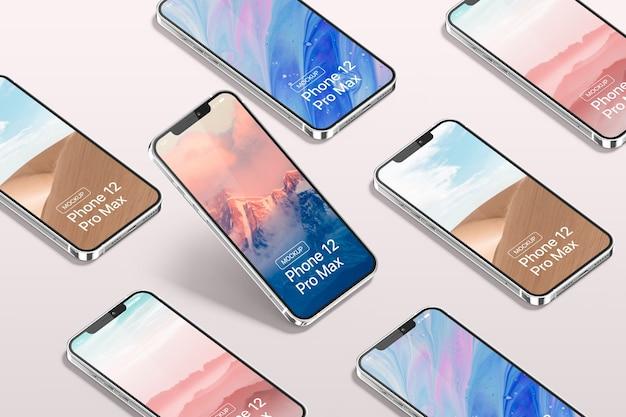 Maqueta de smartphone pro max