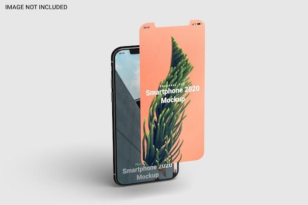 Maqueta de smartphone vista izquierda aislada