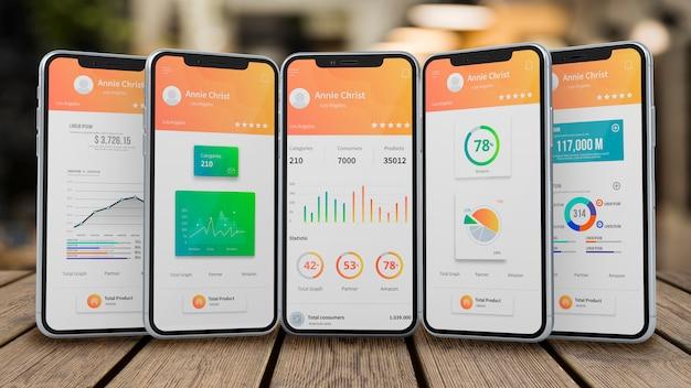 Maqueta de smartphones para apps