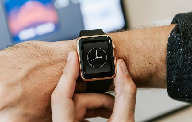 Maqueta de smartwatch
