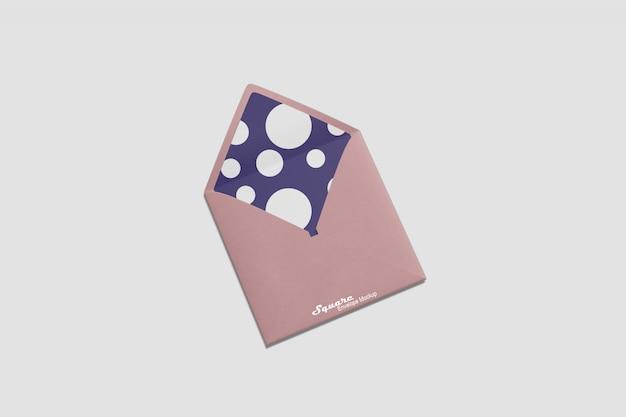 Maqueta de sobre cuadrado