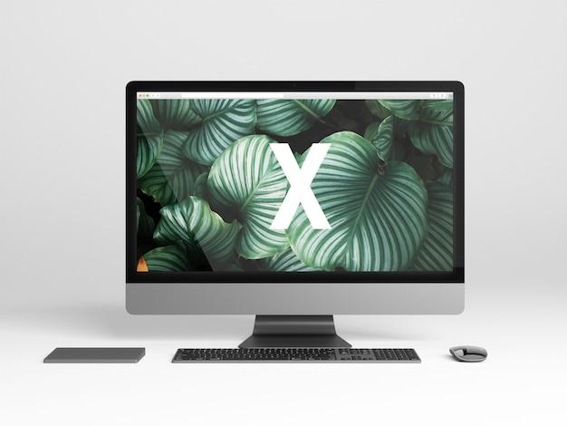 Maqueta de una sola pantalla moderna 2018