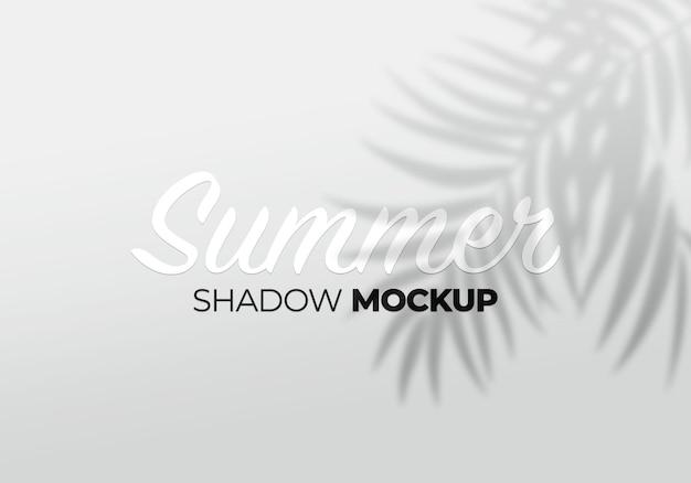 Maqueta de sombra de elemento de diseño de hojas de palma