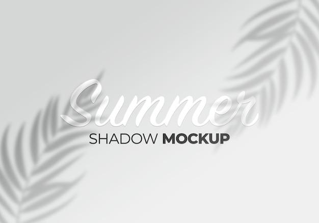Maqueta de sombra de elemento de diseño de hojas
