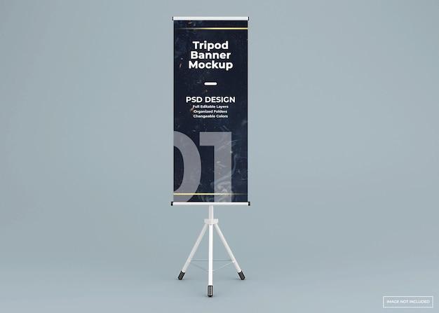 Maqueta de soporte de banner de trípode