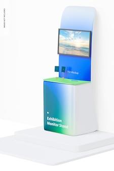 Maqueta de soporte de monitor de exposición