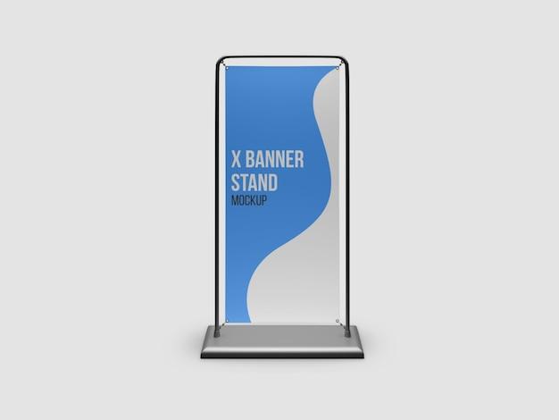 Maqueta de soporte x-banner aislado
