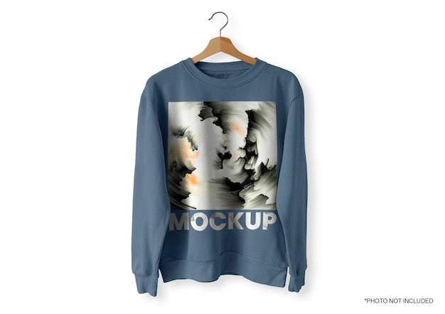 Maqueta de suéter frontal azul