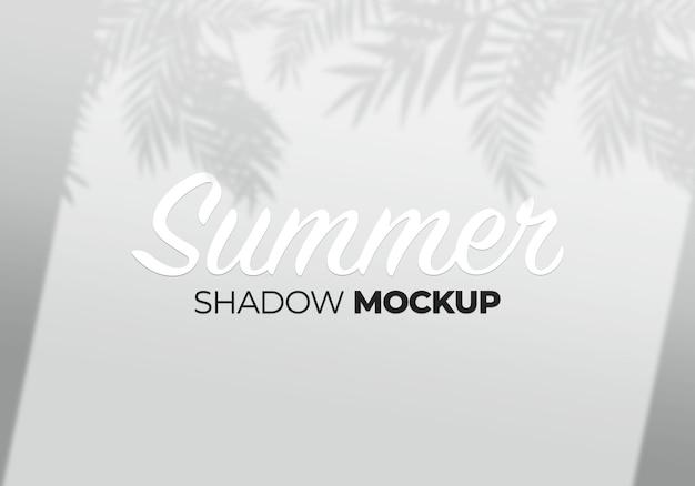 Maqueta de superposición de sombras de hojas de árboles y ventanas