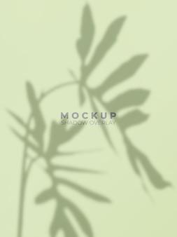 Maqueta de superposición de sombras de hojas tropicales