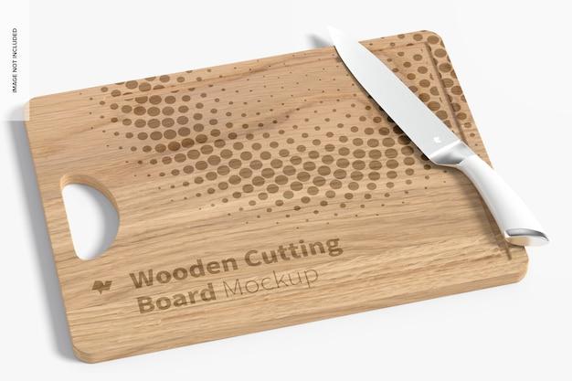 Maqueta de tabla de cortar de madera