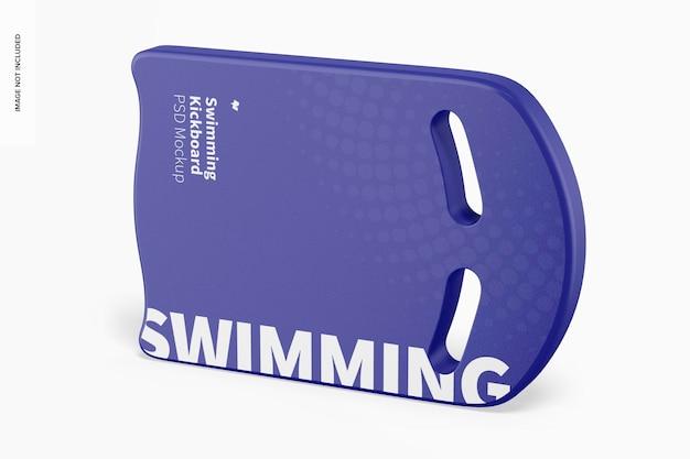 Maqueta de tabla de natación, vista derecha