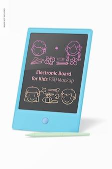 Maqueta de tablero electrónico para niños