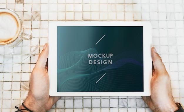 Maqueta de tableta digital