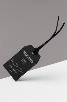 Maqueta de tamaño de ropa concepto abstracto negro