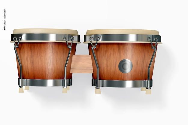 Maqueta de tambor bongo, vista superior