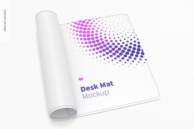 Maqueta de tapete de escritorio, enrollado