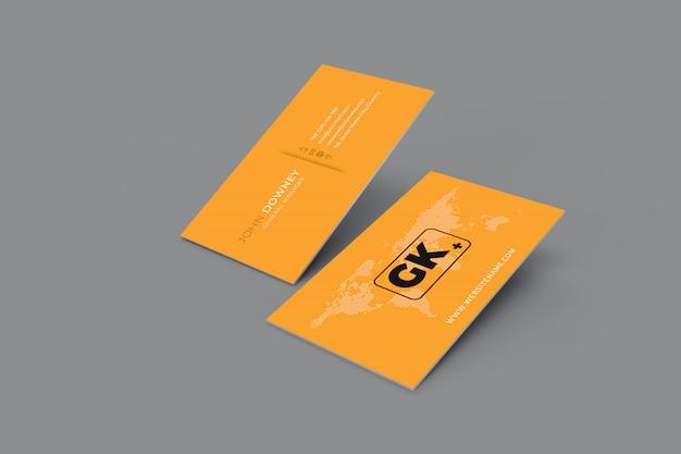 Maqueta de tarjeta en blanco. renderizado 3d