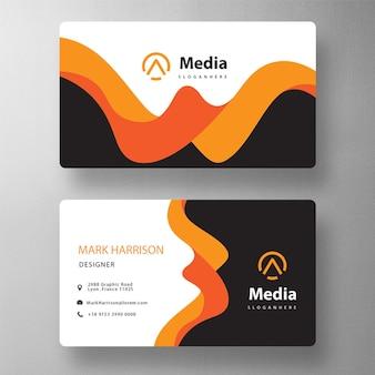 Maqueta de tarjeta corporativa creativa