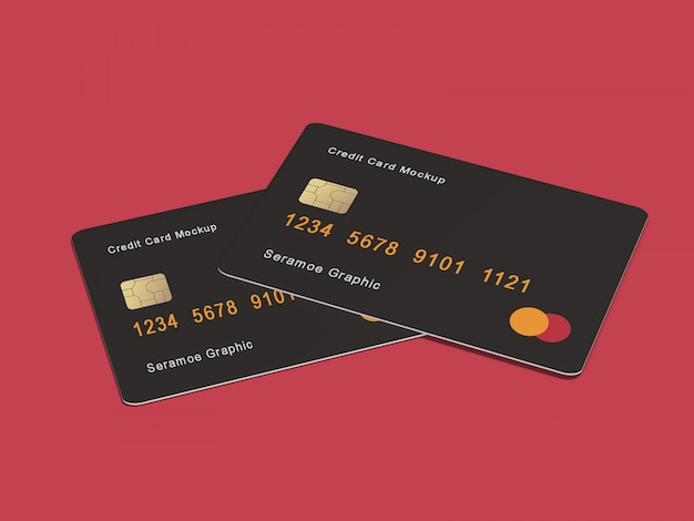 Maqueta de tarjeta de crédito / banco